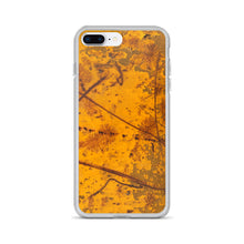 Yellow Scratched Construction Metal with Shatter Effect iPhone Case