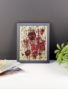 Candy Wax Framed Painting Print