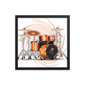 Drum Set Dream Framed Poster