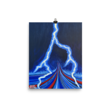 Flash Lightning Painting Print
