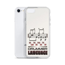 Drummer Language iPhone Case