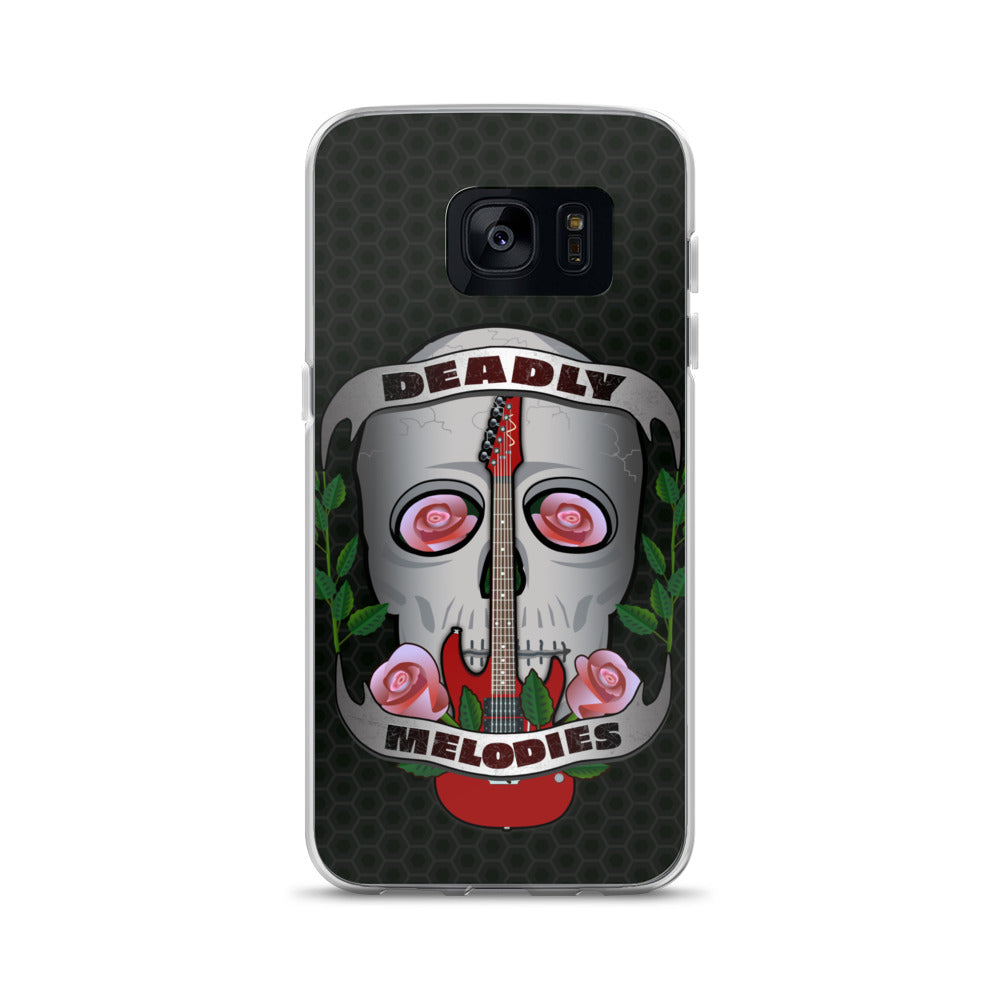 Deadly Melodies - Rose | Skull | Guitar Samsung Phone Case
