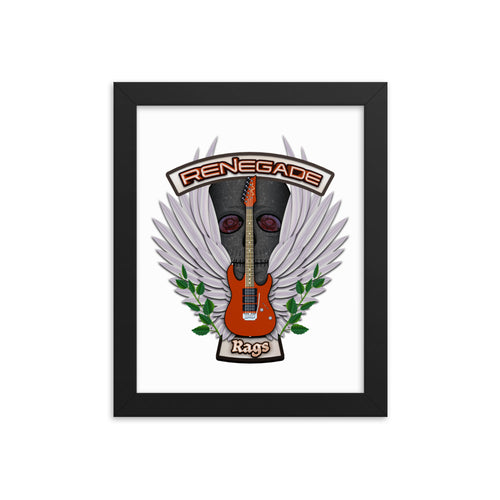 Renegade Rags Guitar and Wings Framed Poster