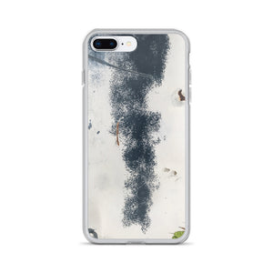 Weathered Truck Blue and White Spotted Paint Job iPhone Case
