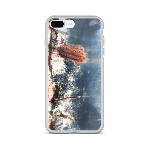 Tattered Blue Truck Bed with Huge Scrape iPhone Case
