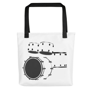 Floating Drum Set Tote Bag