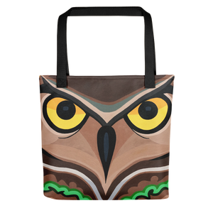 Serious Owl Tote Bag