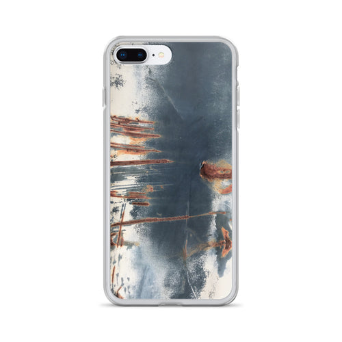 Deeply-Scratched Rusted Metal Truck Bed iPhone Case