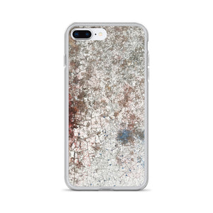 Severely Cracked Paint Tainted Old Car Hood iPhone Case