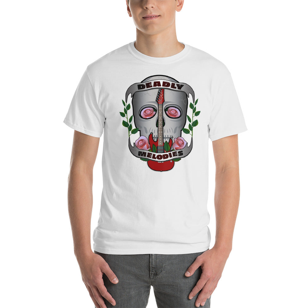 Deadly Melodies - Rose | Skull | Guitar T-Shirt