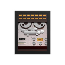 Analog Tape Machine Framed Poster