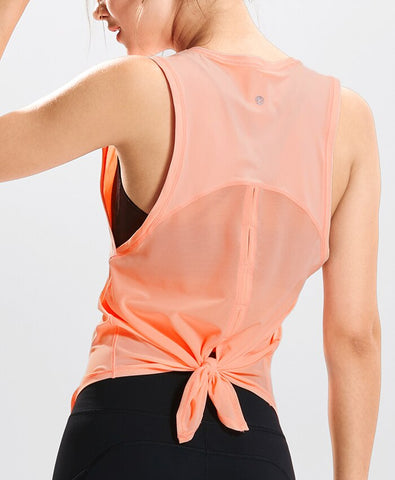 Quick Dry Mesh Tie Back Tank Top