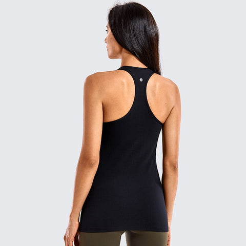 Brushed Racerback Tank Top with Built in Bra