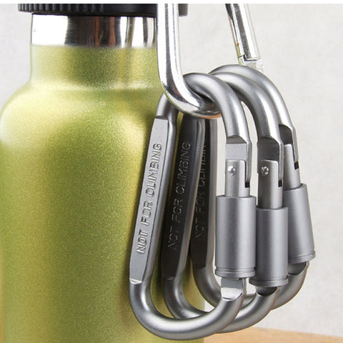 6 Pack Easy Open Carabiner