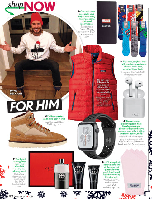 Well Suited NYC's feature in Life & Style, December 2018
