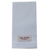 Light Blue Cotton Pique Straight Fold Pocket Square