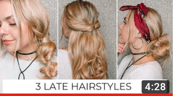 3 Fast & Easy hairstyles with extensions
