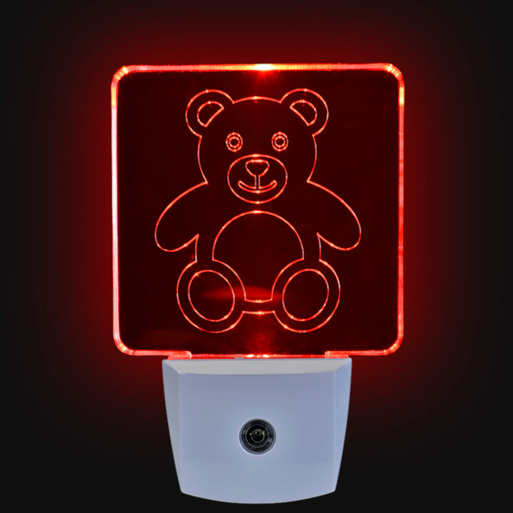 Red LED Night Light [Package of 2] - BioRhythm Safe(TM) - Teddy