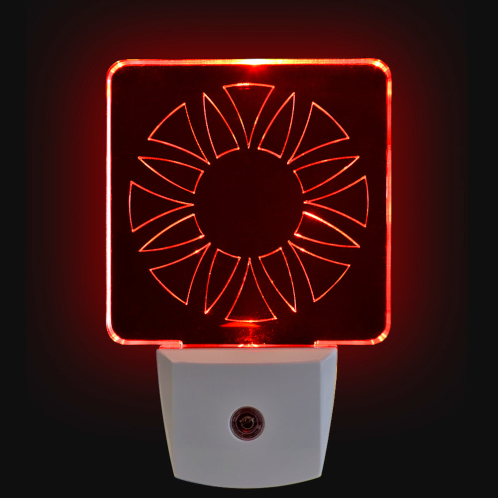Red LED Night Light [Package of 2] - BioRhythm Safe(TM) - Circle