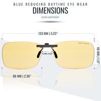 Clip-On Lenses - Blue Blocking Day / Night Combo Pack