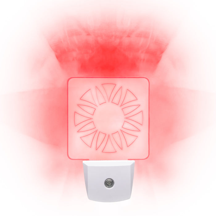 Red LED Night Light [Package of 2] - Circle