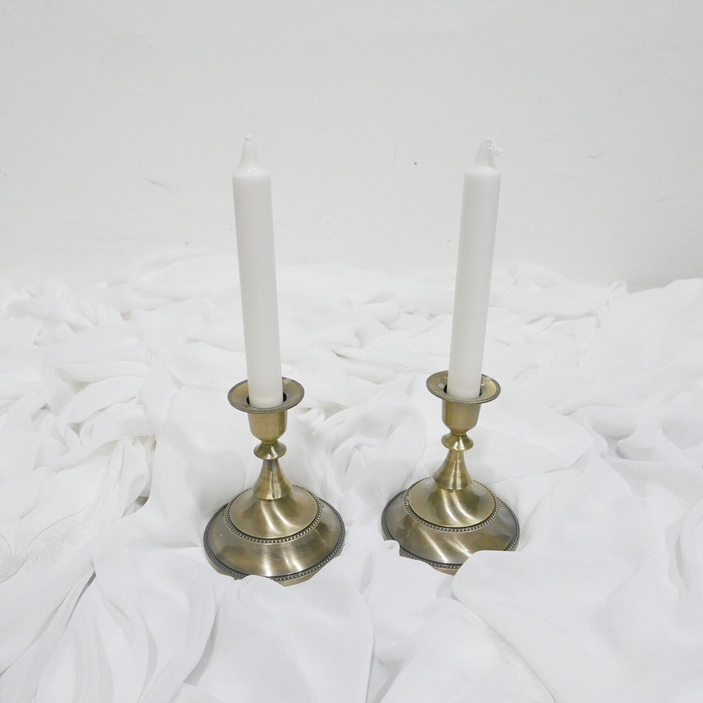The Florté | Candle Holders, Table Decor, Event Wedding Photoshoot, Candles, Golden Rustic Style, Props