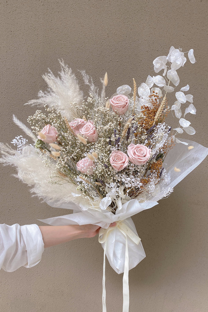 The Florté Florte | Gracious You, Bouquet, Preserved Roses, Dried Flowers, Best Flowers Singapore, Best Florist Singapore, Best Online Florist