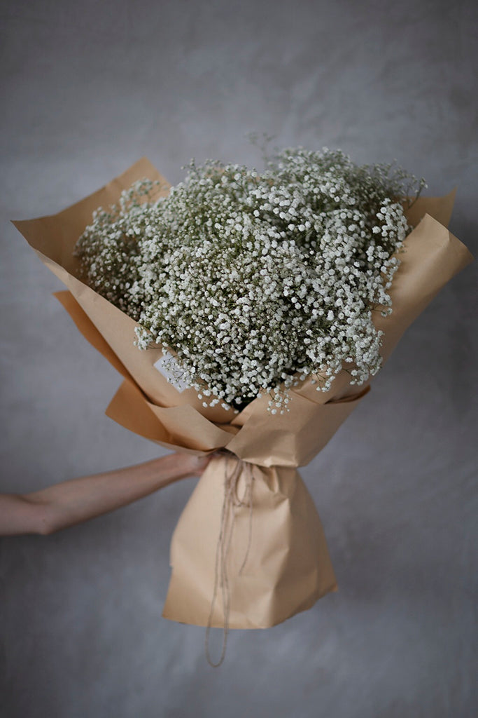 The Florté | So Full of Love, Bouquet, Baby's breath, Fluffy, Huge, Large, Excellence, Dreamy, Kraft Translucent Wrap, Impressive, Cheer up, Cheerful, Graduation, Classic, Youth