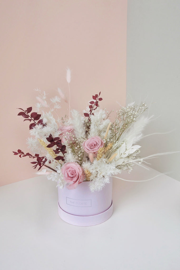 Pink Romance, Dried & Preserved Bloom Box