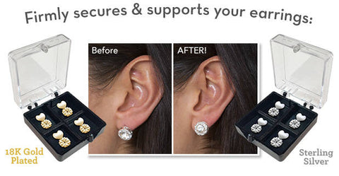 Gold Silver Plated Earring Back Supports Flashocity