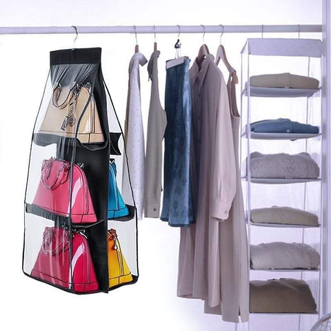 6 Pocket Hanging Handbag Organizer