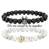 Crown Stacked Couple Bracelet