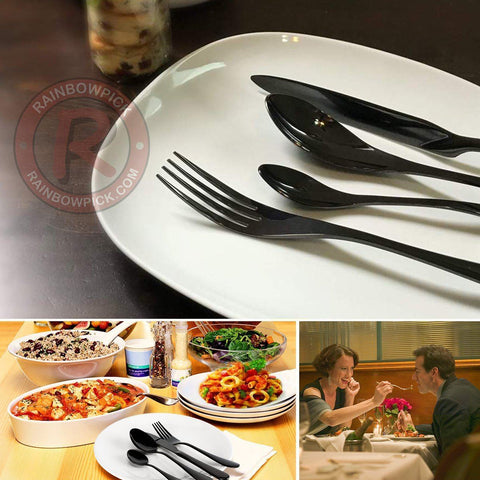 Jet Black Flatware Set