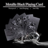 Metallic Black Playing Card