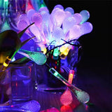 LED Solar Light Colorful Raindrop Lamps