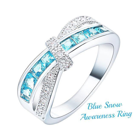Blue Snow Awareness Ring