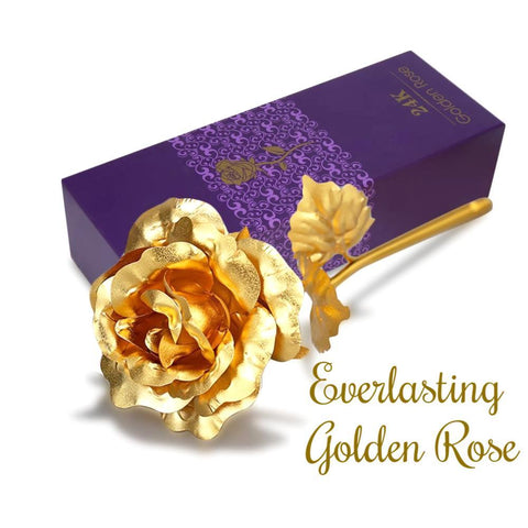 24k Gold Foil Plated Everlasting Rose