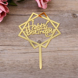 Happy Birthday Acrylic Cake Toppers
