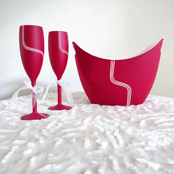 Champagne Flutes with Chilling Bucket