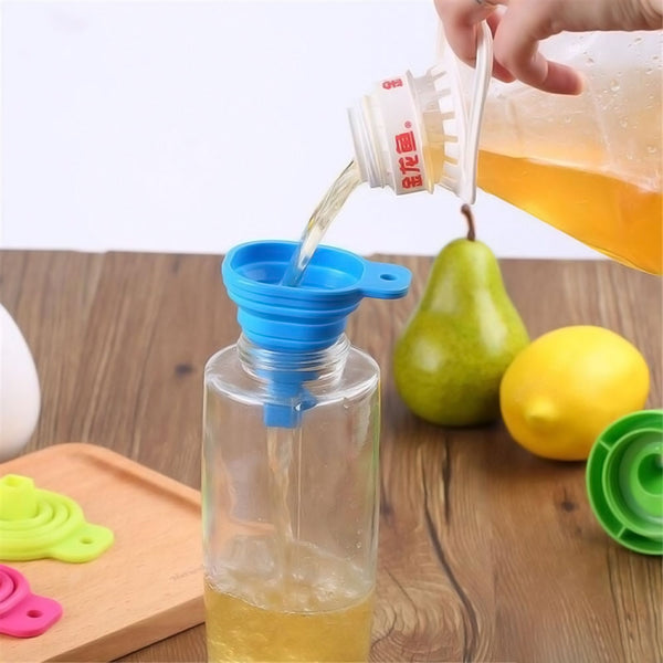 Collapsible Silicone Funnel - Set of 2