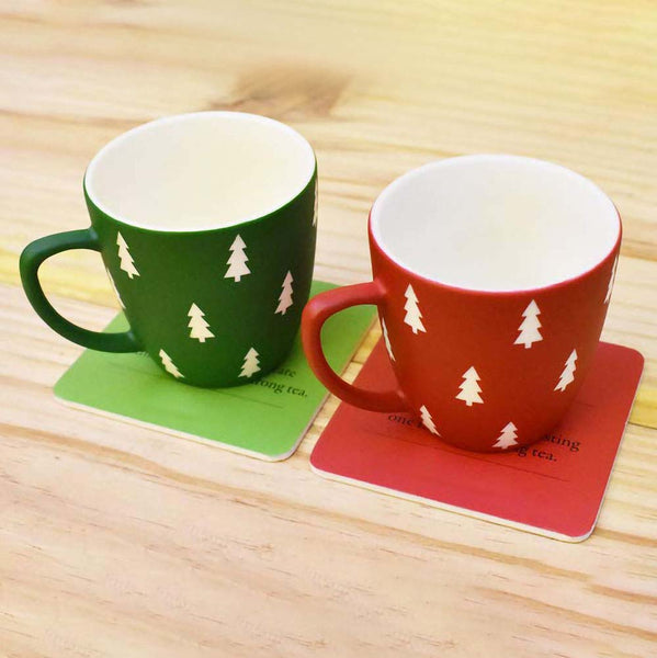 Unbreakable Christmas Tea Cups