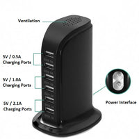 USB 6 Port Charger