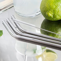 Stainless Steel Straws with brush - Set of 3