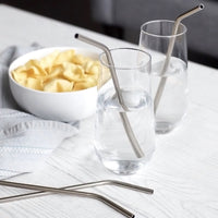 Stainless Steel Straws - 4 Straws + 1 Brush