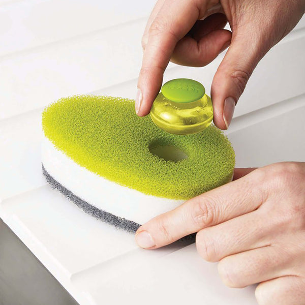 Sponge with soap dispenser