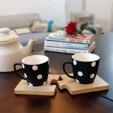 Tea Cups with Jigsaw Coasters