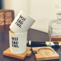 Best Dad Ever Whiskey Glasses - Set of 2
