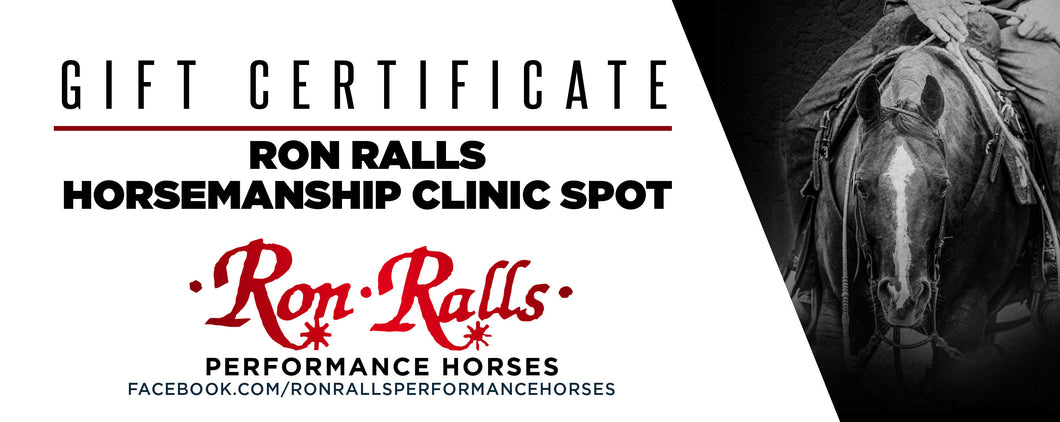 Gift Certificate Ron Ralls Watch & Learn