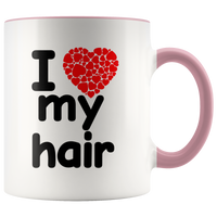 I Love My Hair Ceramic Mug