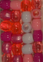 Barrel Hair Beads - Pinks - extra large hole